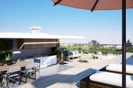 Penthouse-Wohnung mit großer Dachterrasse und privatem Pool in Tavira
