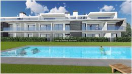 Newly build three bedroom frontline apartment in Cabanas de Tavira with stunning sea view