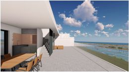 Newly build two bedroom frontline apartments near Tavira with stunning sea view