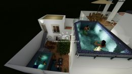 Project for 2 apartments or large townhouse with pool in Tavira centre