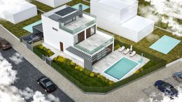 New modern villa with pool front line to Ria Formosa Natural Reserve Park