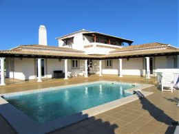Exclusive 3 bedroom villa with pool, mature gardens and sea view near Santo Estevao