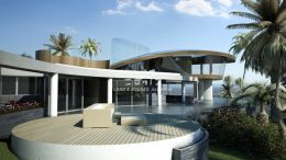 Turnkey project for large luxury villa in Goldra with spectacular seaview