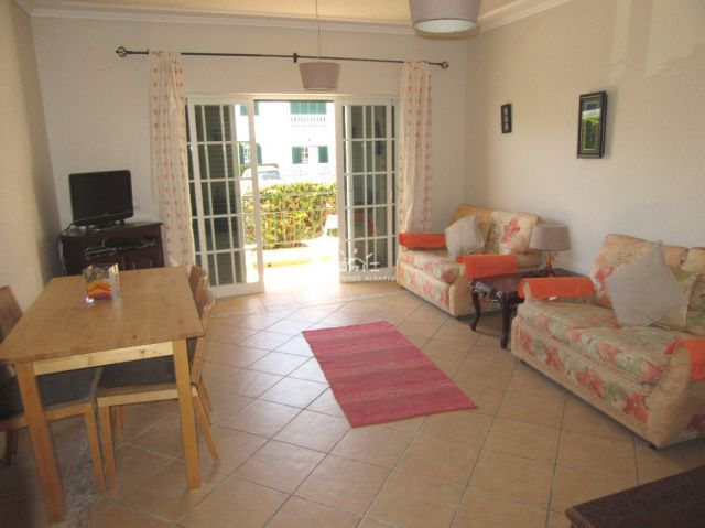 living room of south-facing 1 bedroom apartment with sunny balcony in Conceocao  de Tavira