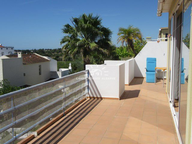 Views from top floor apartment in Santa Luzia with large terrace enjoying fabulous sea view