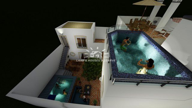 project for 2 self-contained units or large townhouse with pool in Tavira centre