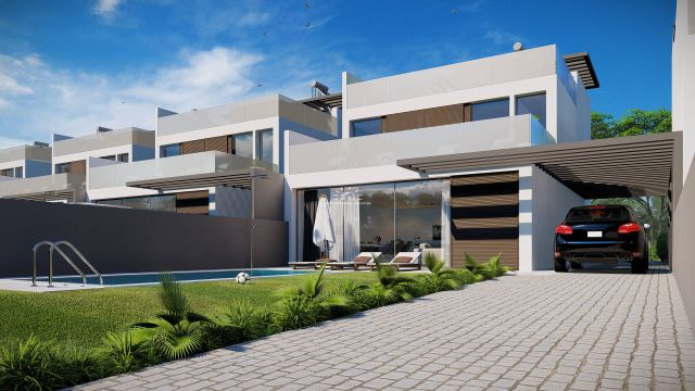 Contemporary detached villas with private pool