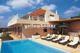Quality villa with heated pool and sea views near...