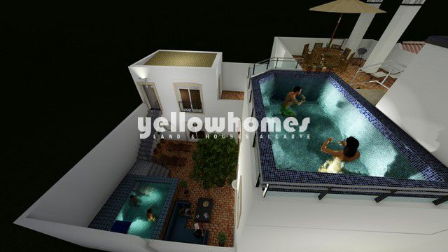 Projekt für 2 Wohnungen oder 1 großes Haus mit Pool im Zentrum von Tavira