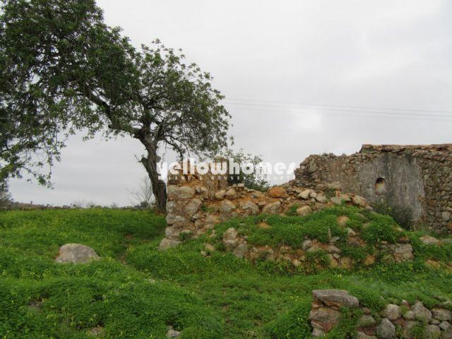 Grosse Ruine auf Südlich ausgerichtetem Grundstück mit Meer- und Landschaftsblick nahe Sao Bras de Alportel