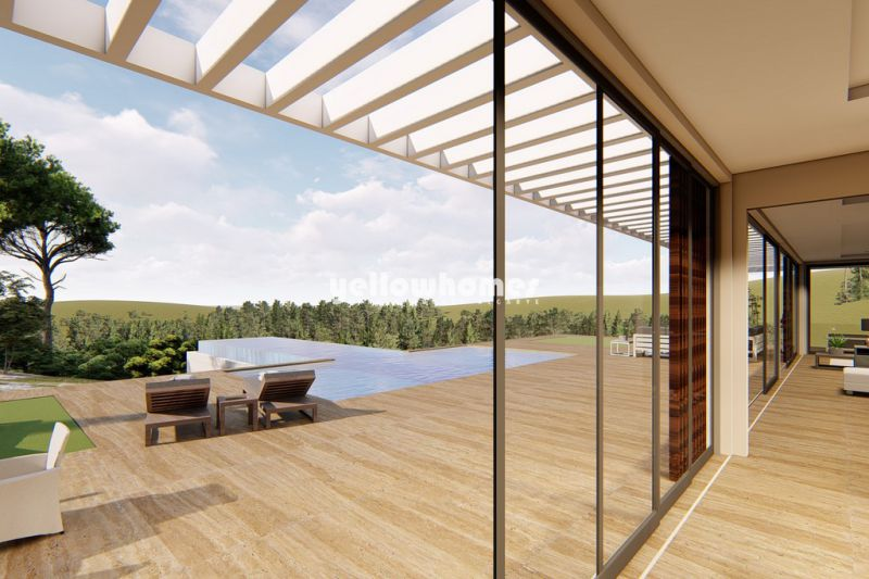 Under construction: Unique ultra-modern villa near Loule with stunning views