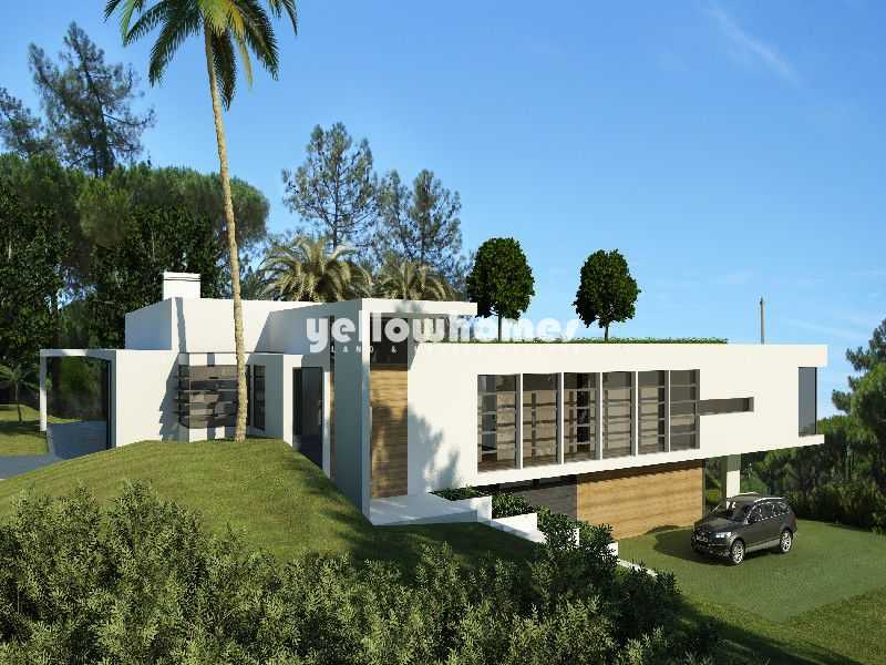 Good size plot with approved project for a contemporary 4 bed villa