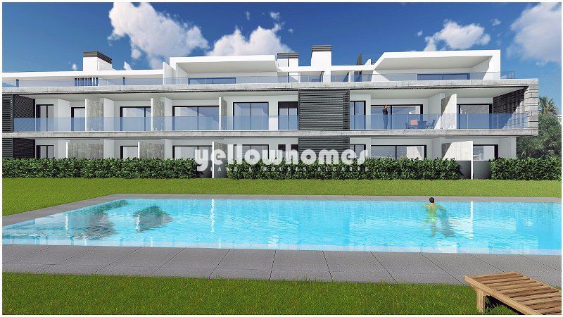 Newly built 3-bed frontline apartments with unique sea views near Tavira