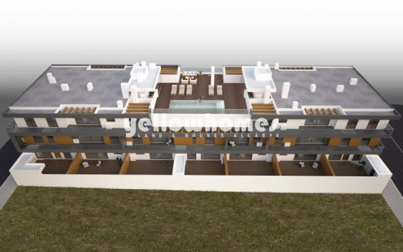 Apartamentos de luxo recém-construídos com piscina comum em Cabanas de Tavira