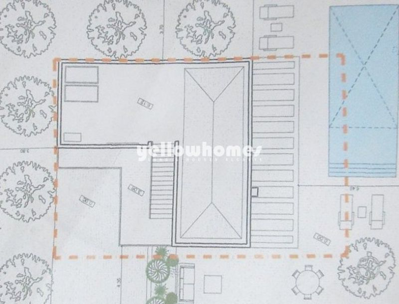 Approved project to build a 4-bed villa with garage and pool in Tavira