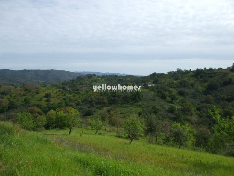 Attractive plot with big ruin and nice country views