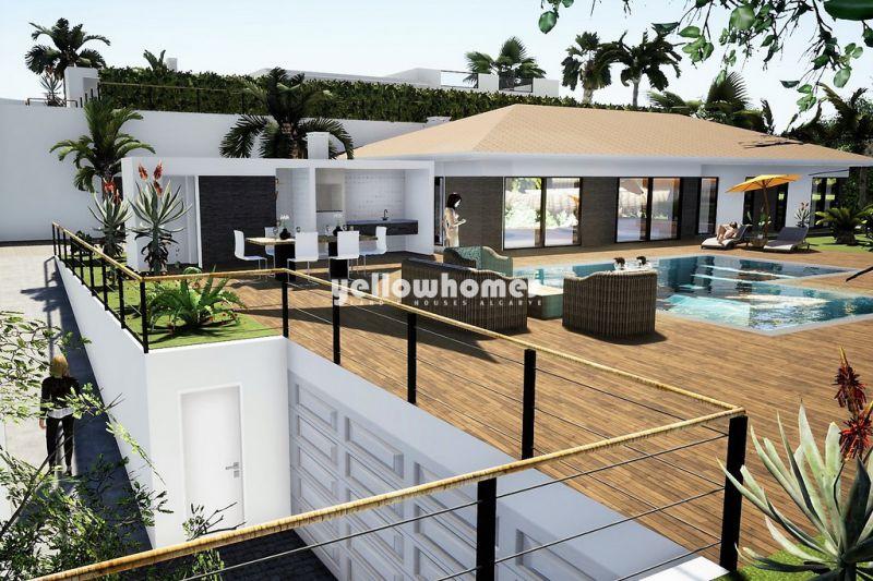 Luxuosa moradia térrea com 3 quartos em construção em Santa Barbara