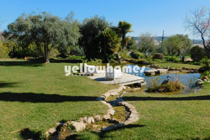 Charming 4 bed sea view property with annex near Loule for sale