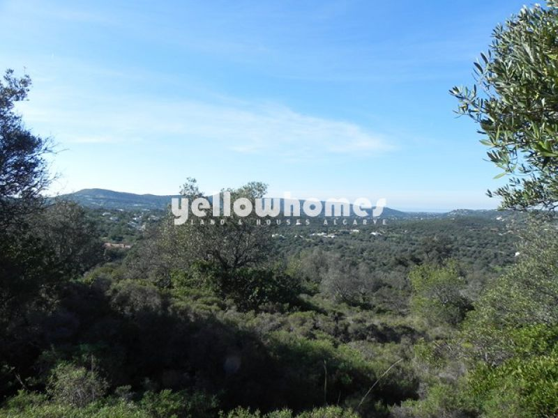 Plot with beautiful country and partly sea views near Santa Barbara and Loule