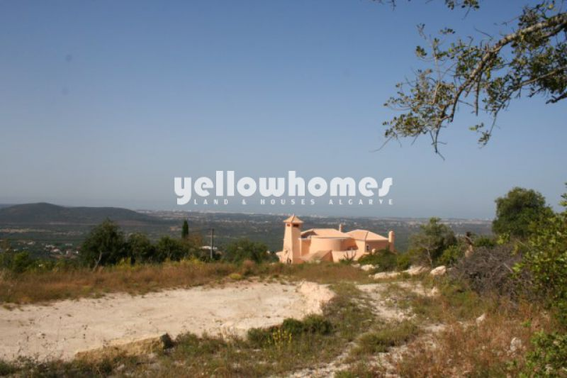 Large building plot with project and 360 degree sea and country views